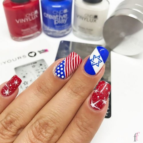 20 best 4th of July 2018 nail art designs and ideas that you have never seen before. Independence Day is almost here, and the best way to celebrate Independence Day with fireworks, barbecues, and star-spangled nails! #Nail #NailArt #NailDesigns #4thofJuly #Patriotic