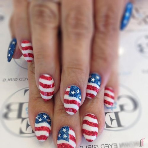 20 Cute Nail Designs For 4th Of July 2018 Ffemale