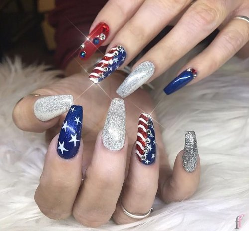 20 Cute Nail Designs For 4th Of July 2018 Page 2 Of 3 Ffemale