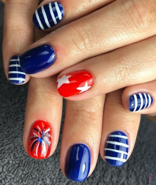 We are so excited to share with you girls this awesome Patriotic, Cute and Easy Nail Designs for 4th of July 2018. Stay tuned for more! #Nail #NailArt #NailDesigns #4thofJuly #Patriotic