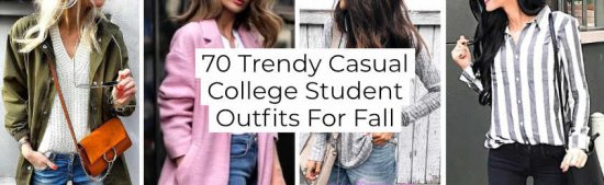 Trendy Casual College Student Outfits For Fall -