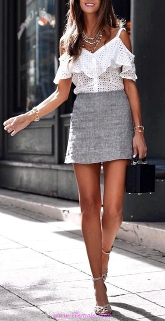 Adorable and cute inspiration idea - outfits , heels, skirt