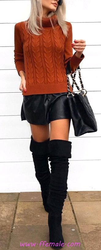 Attractive & Lovely Fall Outfit Idea - ideas, female, modern, wearing