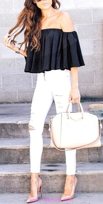 Attractive and relaxed wardrobe - fashion, bellsleeves, offshoulder