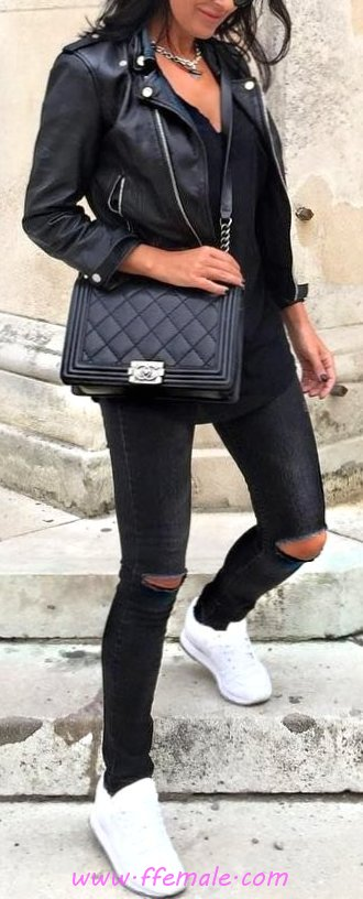 Awesome And Pretty Autumn Inspiration Idea - cool, women, street, fancy