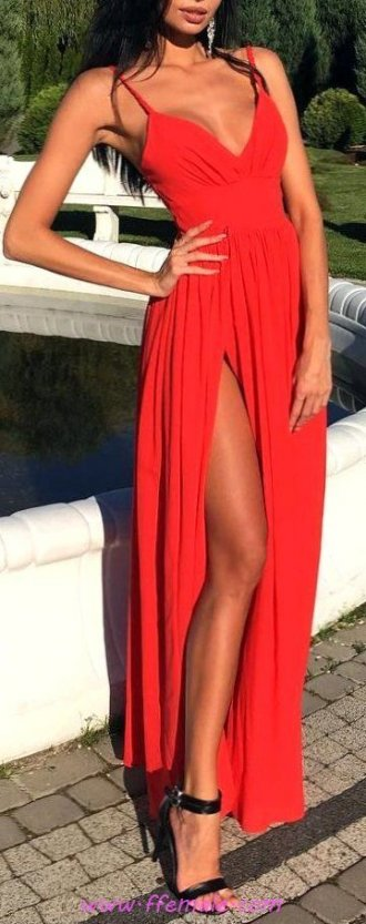 Beautiful and pretty look - model, posing, red
