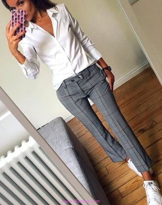 Best attractive and lovely outfit idea - fashion , gray, pants