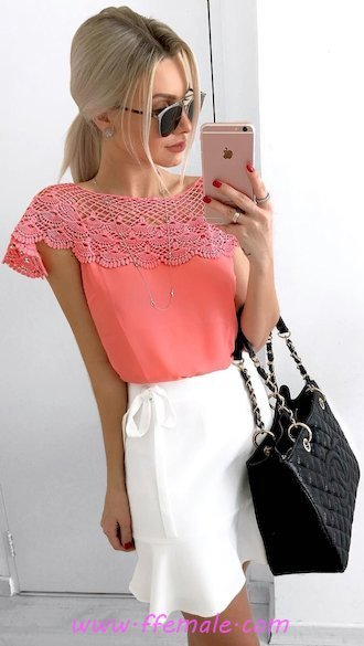 Best awesome and perfect inspiration idea - lace, sunglasses, pink, white, handbag