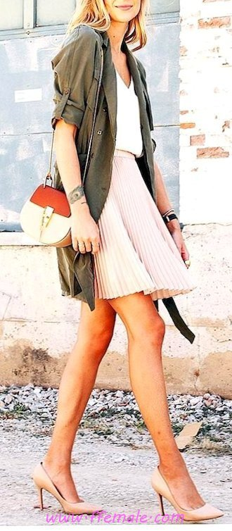 Best classic and cute look - jacket, pumps, aline, female, woman, elegance, pink, handbag