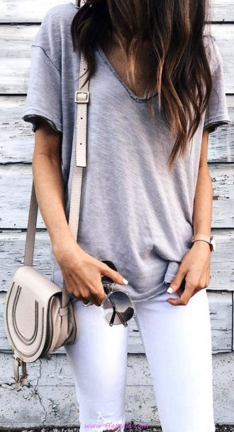 Best comfortable and top wardrobe - denim, gray, tshirt, white, handbag