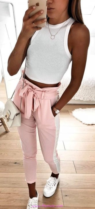 Best fashionable and hot wardrobe - tanktop, sneakers, photoshoot, girl, lifestyle, clothes, pink, white