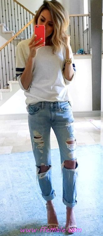 Best trendy look - denim, girl, posing, clothes, style, blue