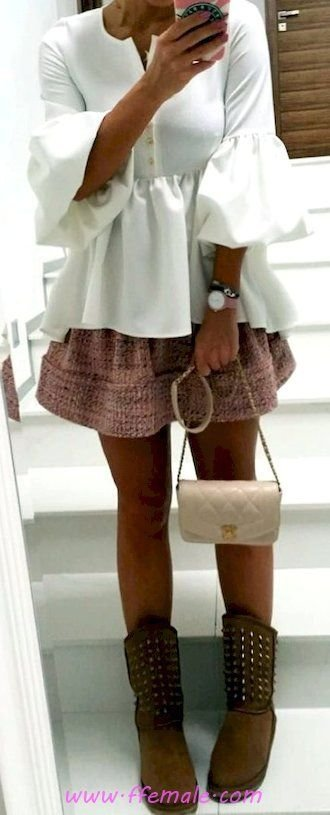 Comfortable and super inspiration idea - bellsleeves, shoes, white, handbag