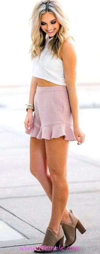 Comfortable and trendy outfit idea - posing, happy, pink, white, accessories, boots