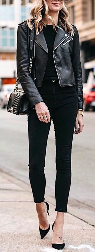 Cute And So Fashionable - clothing, wearing, leather, lifestyle, graceful