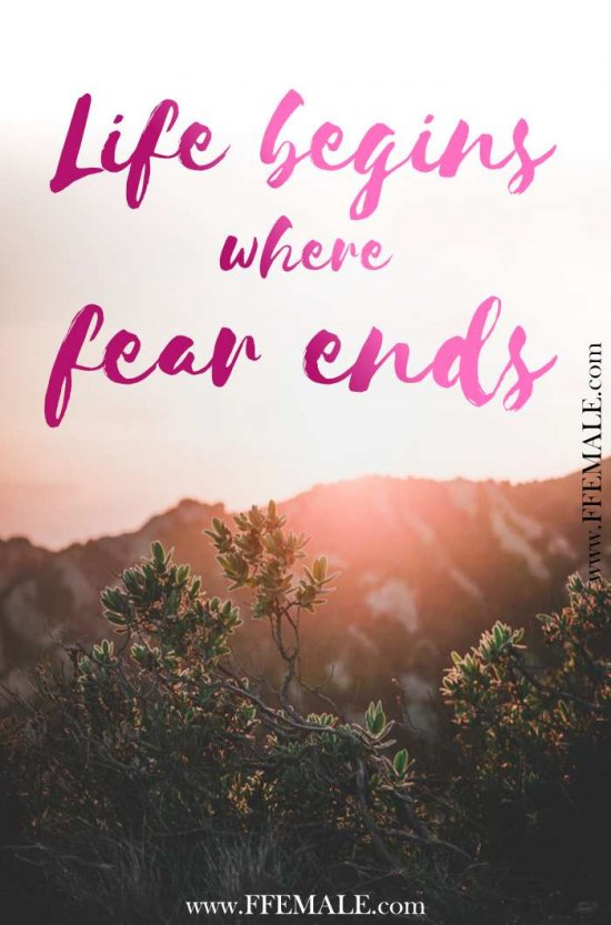50+ Deep Motivational quotes: Life begins where fear ends #quotes #deep #motivation #inspiration #quote
