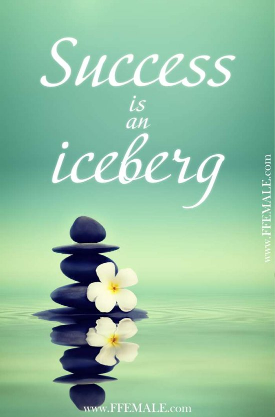 50+ Deep Motivational quotes: Deep Motivational Quotes: Success is an iceberg #quotes #deep #motivation #inspiration #quote