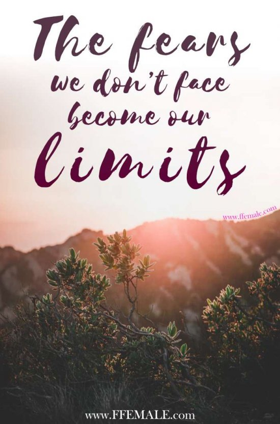 50+ Deep Motivational quotes: The fears we don't face become our limits #quotes #deep #motivation #inspiration #quote