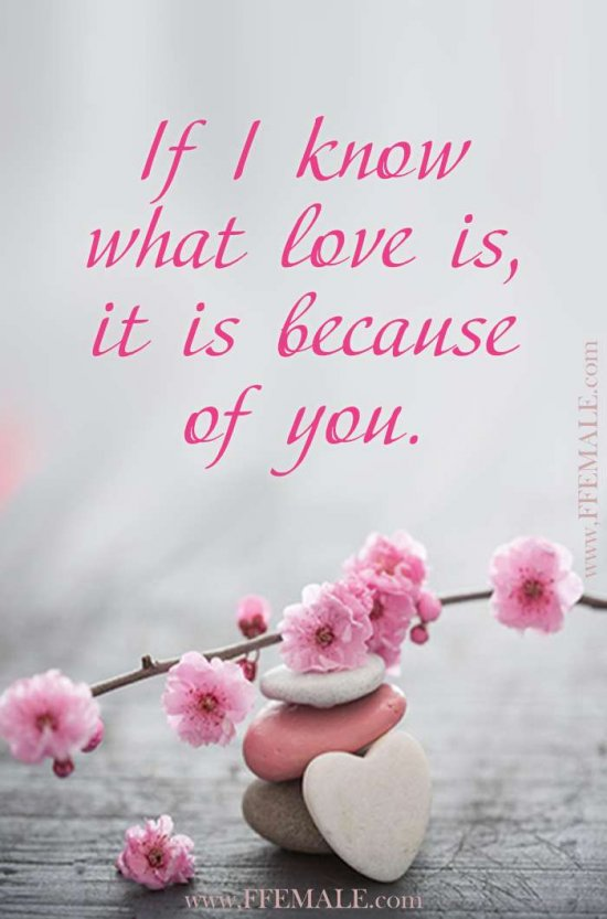 Deep quotes about love: If I know what love is, it is because of you #quotes #love #deep #inspiration #motivation