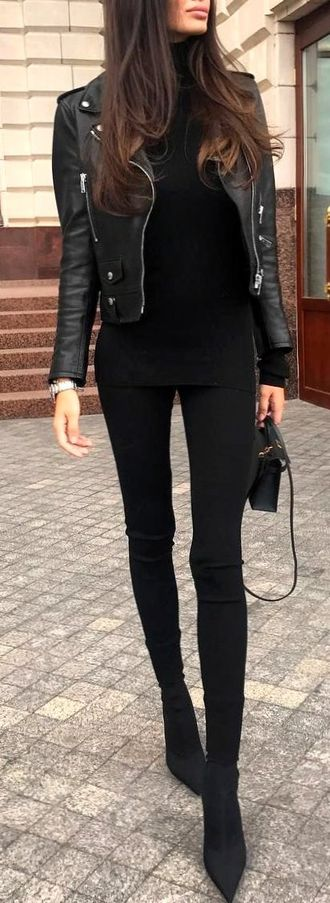 Elegant And Trendy Wardrobe - graceful, inspiration, leather, clothes, posing