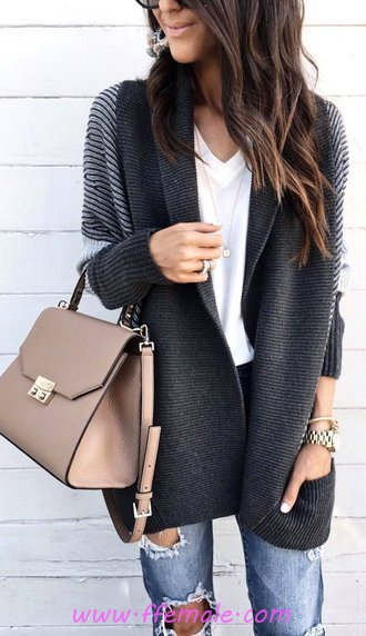 Fashionable And Pretty Fall Look - flashy, cool, wearing, clothing