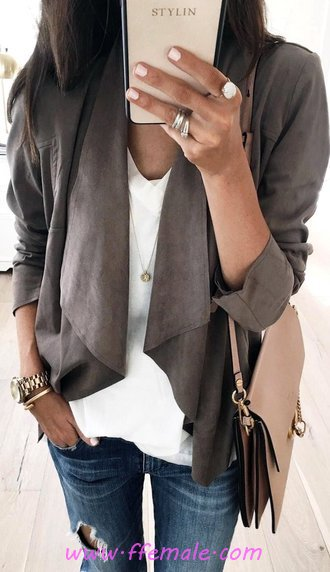 Fashionable And Simple Warderobe - attractive, outerwear, elegance, dressy