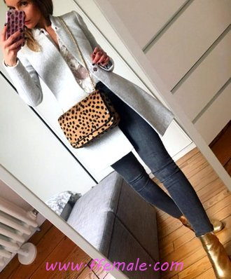 Fashionable And Super Autumn Outfit Idea - graceful, posing, cool, female