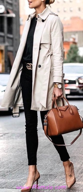 Fashionable And Trendy Fall Wardrobe - female, outerwear, charming, cute