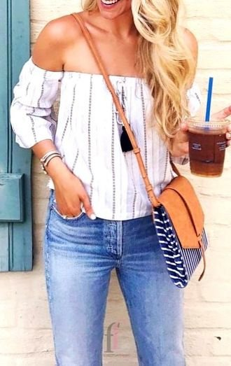 Fashionable and handsome outfit idea - ideas , offshoulder