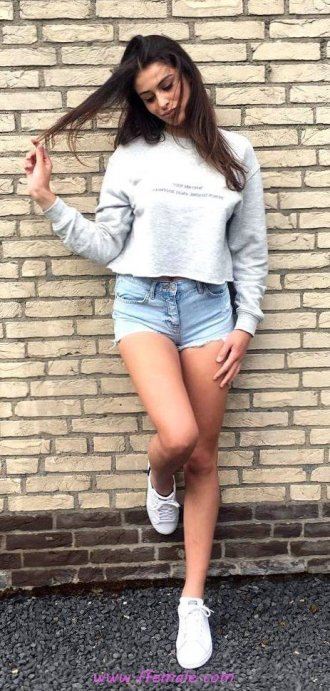Finest - attractive and handsome look - shorts, denim, gray, sneakers, photoshoot, posing, lifestyle, blue