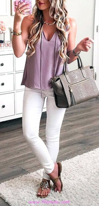 Finest - attractive and lovely wardrobe - denim, sandals, pink, white, handbag