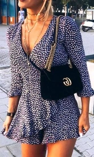 Finest - beautiful and trendy outfit idea - fashion, vneck, floral