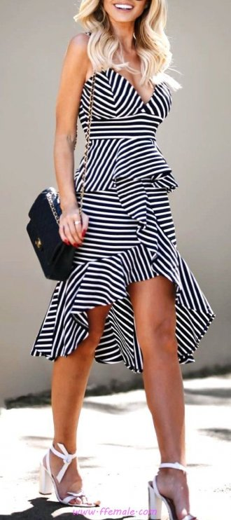 Finest - classic and trendy wardrobe - fashion, vneck, striped, mules