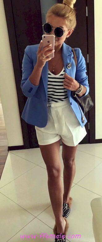 Finest - fashionable and handsome inspiration idea - shorts, striped, blazer, sunglasses