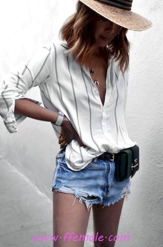 Finest - fashionable and perfect outfit idea - denim, hat, striped, photoshoot, white, blue, handbag