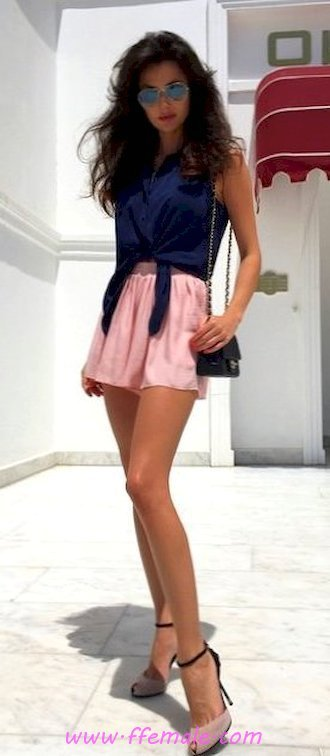Finest - furnished and simple inspiration idea - mini, heels, style, sunglasses, pink, handbag