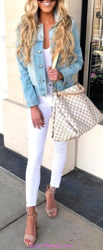Finest - graceful and cute outfit idea - model, photoshoot, posing, happy, white, handbag