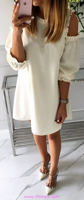 Finest - simple outfit idea - pumps, photoshoot, posing, lifestyle, white