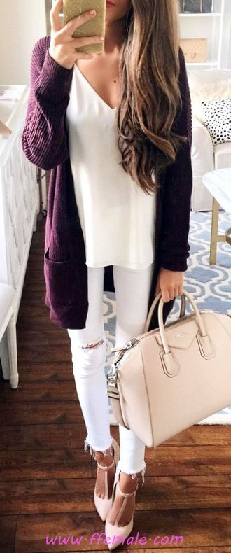 Furnished And Cute Autumn Look - outfits, adorable, flashy, clothes