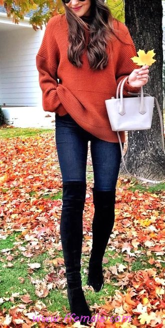 Glamour And Top Fall Look - cool, fashionista, popular, dressy