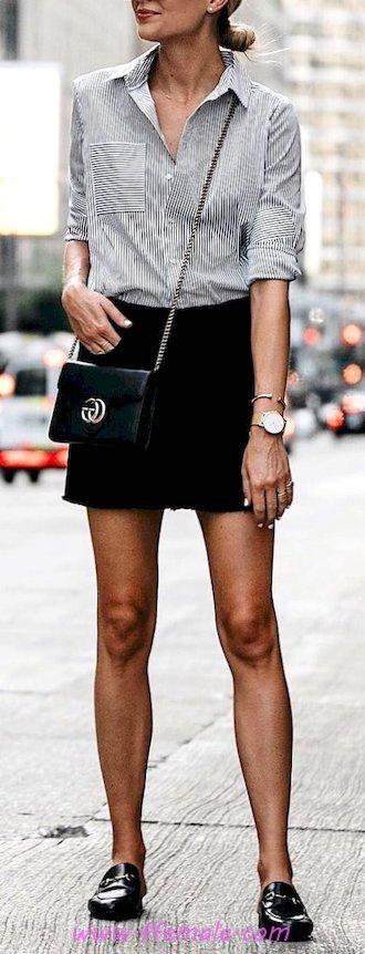 Glamour and trendy wardrobe - classy, gray, shirt, female, shoes, clothes, outerwear, black, handbag