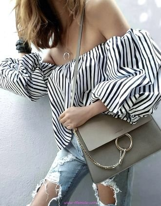 Graceful and handsome inspiration idea - fashion, striped