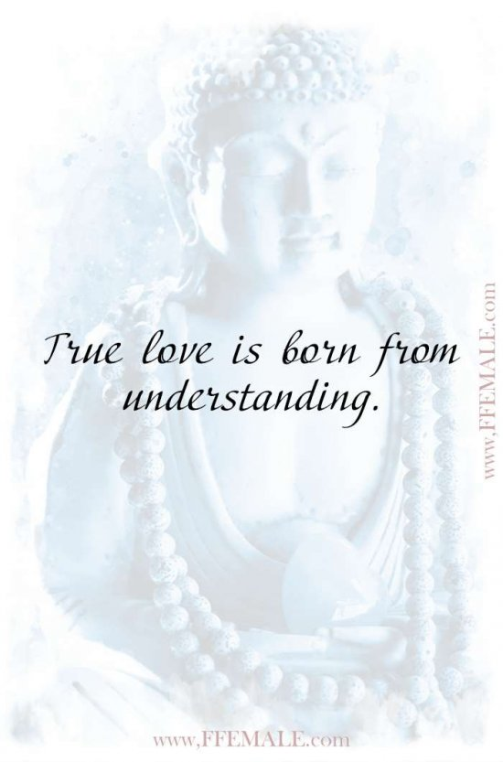 Best motivational love quotes: Buddha - True love is born from understanding #quotes #love #passion #motivation #inspiration