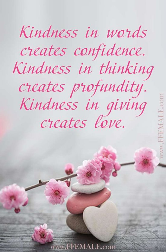 Best motivational love quotes: Kindness in words creates confidence. Kindness in thinking creates profundity. Kindness in giving creates love #quotes #love #passion #motivation #inspiration