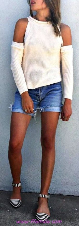 My attractive and simple look - shorts, denim, posing, lifestyle, clothes