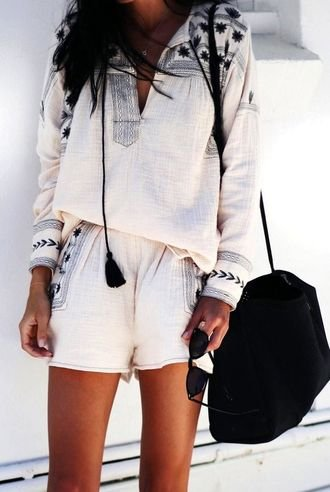 My classic and pretty inspiration idea - boho, lifestyle, white, handbag
