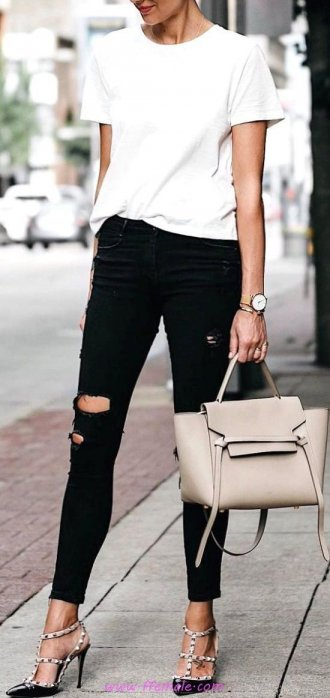 My comfortable and top outfit idea - photoshoot, white, handbag
