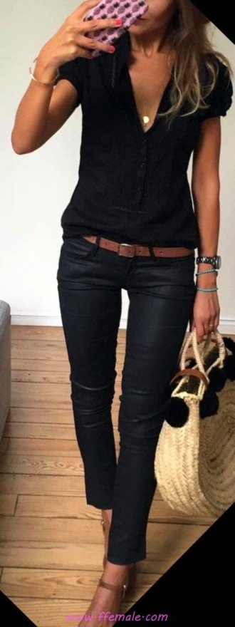 My graceful and hot inspiration idea - vneck, leather, photoshoot, lifestyle, black, handbag