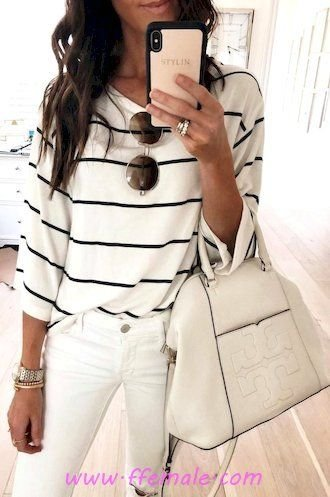 Summer Outfits My attractive and trendy look - denim, striped, lifestyle, elegant, sunglasses, white, handbag