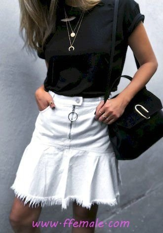 Summer Outfits Best glamour and trendy inspiration idea - denim, lifestyle, style, black, white, handbag